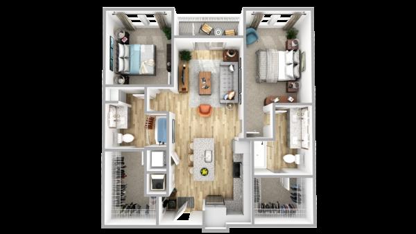 B6 3d floor plan