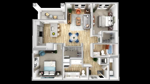 B8 3d floor plan